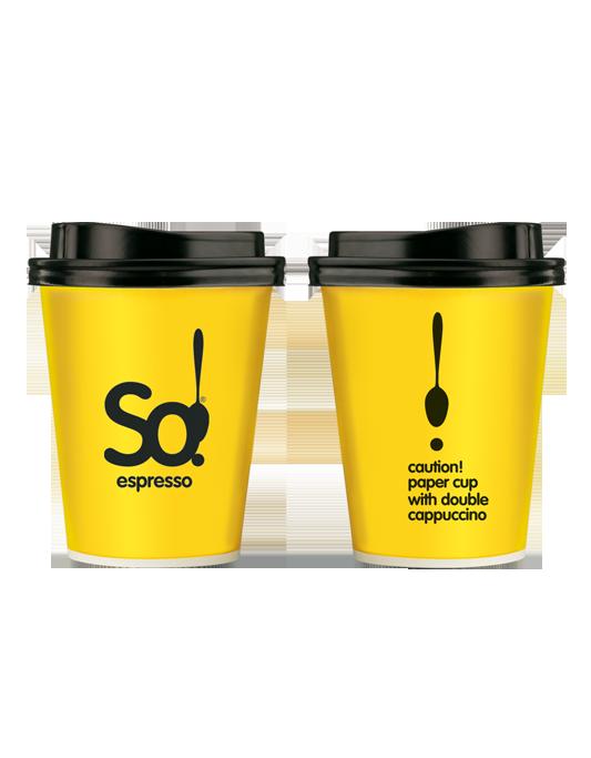 Χάρτινο ποτήρι 14oz double cappuccino So!
