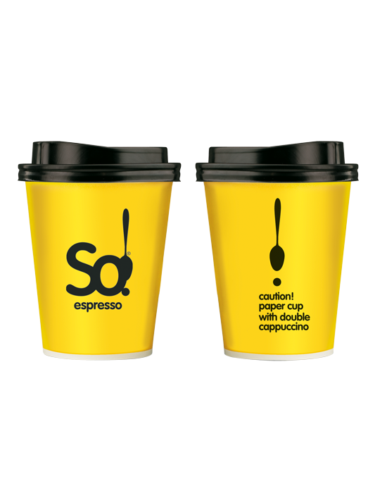 Paper cup 14oz double cappuccino So!