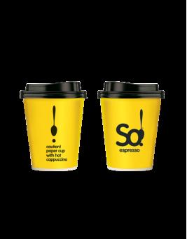 Χάρτινο ποτήρι 8oz cappuccino So!