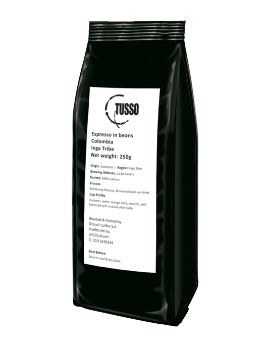Espresso TUSSO Colombia Inga Tribe in beans 250g